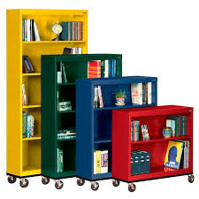 Metal Bookcase All Mobile Metal Bookcases By Sandusky Lee Options Storage
