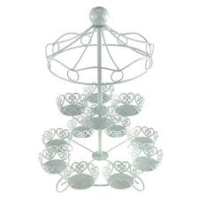 cup cake holder carousel cupcake holder 2 tier 16 inch white