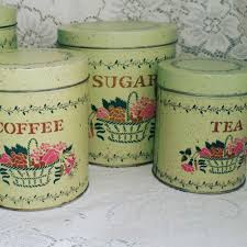 kitchen canisters green tin nesting pink green and pink kitchen canisters canister set