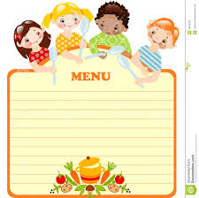 blank menu templates free daycare menu template
