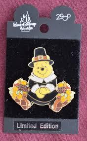 thanksgiving pins disney wdw pilgrim pooh thanksgiving pin retired disney pins