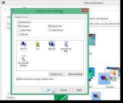 windows 8 1 bureau comment faire apparaitre l icône ordinateur dans le bureau sur