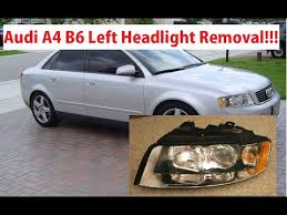 audi a4 headlight bulb replacement audi a4 b6 driver side left headlight removal in 1 minute audi a4