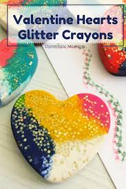 diy valentine hearts glitter crayons optimistic mommy