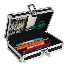 pencil box vaultz locking pencil box assorted colors by office depot officemax
