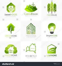 green house logo templates conceptual icon stock vector 581124442
