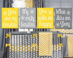 Gray And Yellow Nursery Decor Yellow Gray You Are My Wall Canvas Or Prints