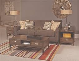 Living Room Furniture Lazy Boy by Furniture Dim Grey Sofa Plus Wooden Table With Drawers By Hammary