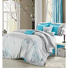light grey bed skirt overstock the light grey comforter features delicate floral