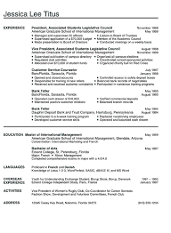 Bank Teller Objective Resume Examples by College Graduate Sample Resume College Student Resume Example