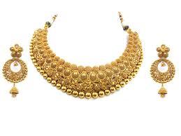 gold antique necklace set images 22kt gold necklace set jpg