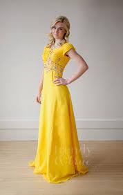 yellow jeweled and ruched modest chiffon dress u2013 trendy u0026 true