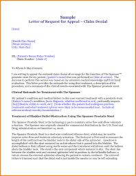 medical appeal letters medical assistance required cover letter