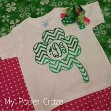 chevron shamrock monogram shirt with free cut file my paper craze