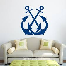 online get cheap removing plastic wall anchors aliexpress com anchor nautical sea ocean silhouette wall art stic
