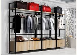 clothes shop install clothes shop display shelving 35kg layer loading capacity