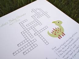 baby shower crossword puzzles gallery baby shower ideas