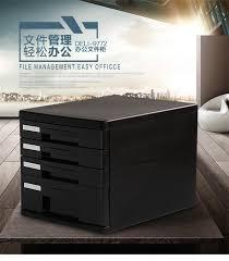 Plastic Office Desk Desktop Document Trays Data Storage Cabinets Plastic Drawer Four