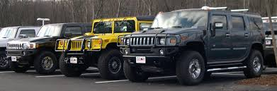 from left hummer h3 h1 and h2 defunct us car manufacturers