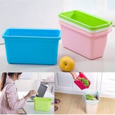 aliexpress com buy plastic desktop storage box doors hang trash