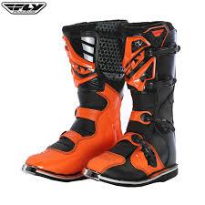 black dirt bike boots 2017 fly maverik boot black orange
