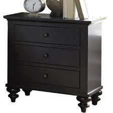 furniture hamilton iii 3 drawer nightstand in black 441 br61