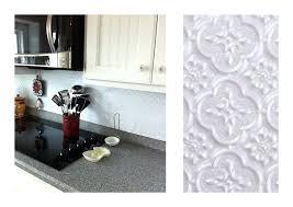 faux tin kitchen backsplash faux kitchen backsplash so what kitchen looks like now pvc faux