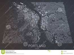 Portland Maps Com by Portland Map Satellite View United States Stock Photo Image
