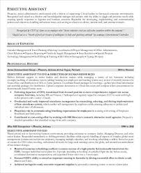 Resume Examples For Executive Assistant by Free Executive Resume Templates 34 Free Word Pdf Documents