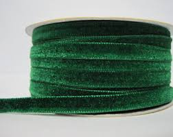 velvet ribbon wholesale green velvet ribbon etsy