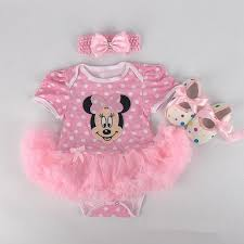 Halloween Costume Minnie Mouse Baby Girls Halloween Costumes Minnie Mouse Romper Dress Headband