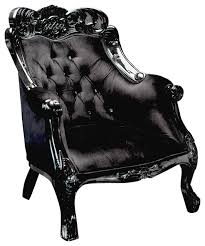 Black Accent Chair Velvet Baroque Accent Chair Black Victorian Armchairs And