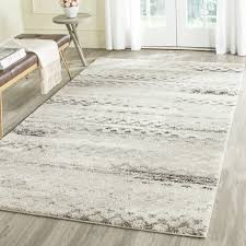 Discount Area Rugs 8 X 10 Safavieh Retro Modern Abstract Grey Distressed Area Rug 8