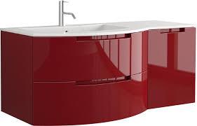 53 inch modern floating bathroom vanity slate glossy finish