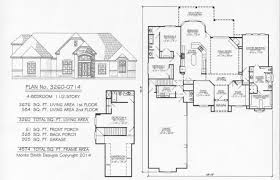 1 Storey Floor Plan by 4 Bedroom 1 Story 2901 3600 Square Feet