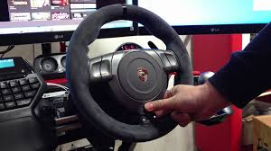 fanatec porsche 911 gt2 wheel power on youtube