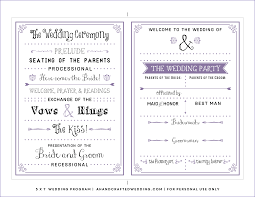 where to get wedding programs printed free downloadable wedding program template that can be printed