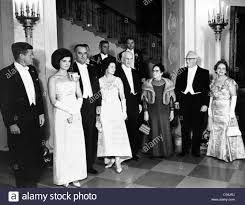Kennedy Jacqueline President John And Jacqueline Kennedy At A White House Dinner
