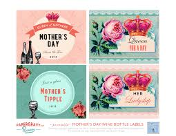 mother u0027s day printable wine labels the graphics fairy