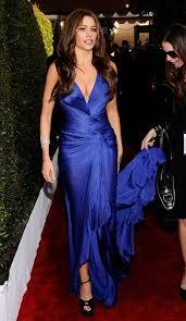 sofia vergara u0027s blue roberto cavalli dress for 2011 sag awards