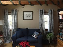 Living Room Window Curtains by Window Treatments Kelly Bernier Designs
