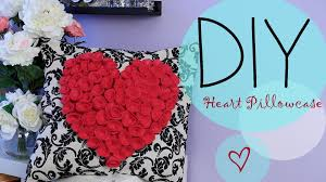 diy flower heart pillowcase gift idea ann le youtube