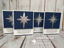 how to make stampin u0027 up christmas cards with star of light stamp