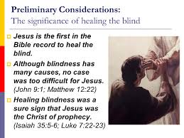 the miracles of jesus lesson 16 healing the blind matt 9 27 31