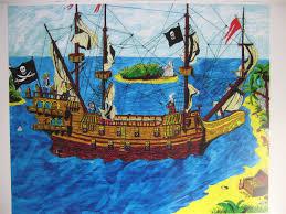 pirate ship poster for kids pirate art fine print by original