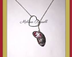 christmas gifts for 49ers fans sf 49ers jewelry etsy