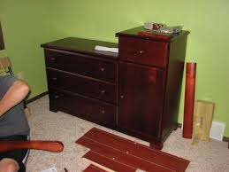 cherry changing table dresser combo bedroom changing table dresser combo dresser ideas