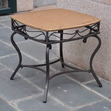 round patio stone coffee tables round patio end table cocktail outdoor stacking