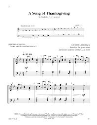 a song of thanksgiving arr michael helman j w pepper sheet