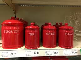 red canister sets for kitchen red storage canisters kitchen homebase dishes pinterest